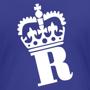 Aqua R - Crown - Letters Ladies' - Women's Premium T-Shirt