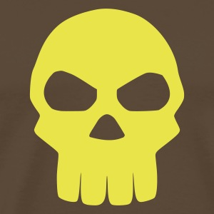 Brown Skull T-Shirts - Men's Premium T-Shirt