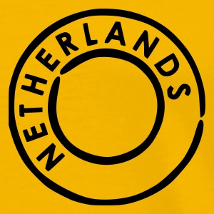 Yellow Netherlands Postmark Men's Tees (short-sleeved) - Men's Premium T-Shirt