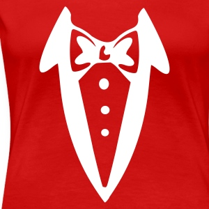 Red Bow Tie Ladies' - Women's Premium T-Shirt
