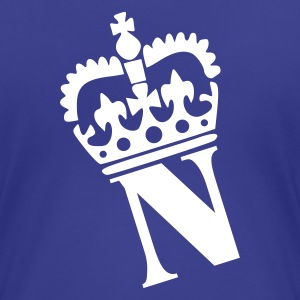 Aqua N - Crown - Letters Ladies' - Women's Premium T-Shirt