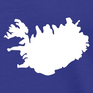 Sky Iceland Island Flag map Men's Tees (short-sleeved) - Men's Premium T-Shirt