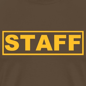 Brown Staff T-Shirts - Men's Premium T-Shirt