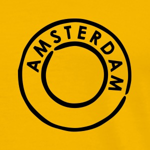 Yellow Amsterdam Postmark Men's Tees (short-sleeved) - Men's Premium T-Shirt