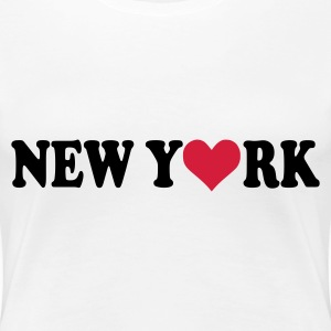 White New York Ladies' - Women's Premium T-Shirt