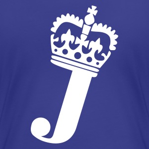 Aqua J - Crown - Letters Ladies' - Women's Premium T-Shirt