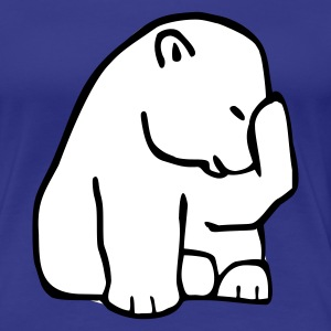 Turkis Polarbear Girlie - Premium T-skjorte for kvinner