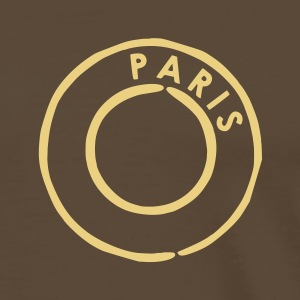 Brun Paris Post T-shirts (kort ärm) - Premium-T-shirt herr