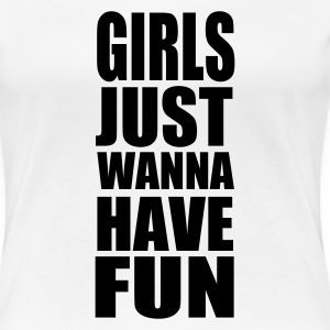 Wit Girls Fun T-shirts (korte mouw) - Vrouwen Premium T-shirt