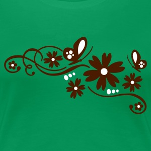 Kelly green flower tribal tattoo Girlie - Frauen Premium T-Shirt