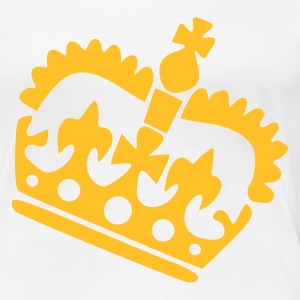 Wit Crown T-shirts (korte mouw) - Vrouwen Premium T-shirt