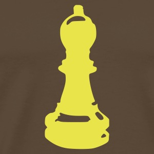 Marron Biship - Chess Hommes - T-shirt Premium Homme