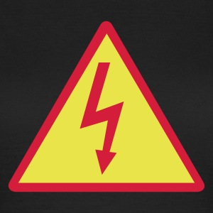 Attention,Symbol,Lightning,Electricity - Women's T-Shirt