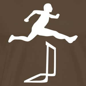 Brown Athlectics - Hurdles Men's Tees (short-sleeved) - Men's Premium T-Shirt