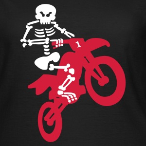 Olive Motorcross Skeleton T-Shirts (Kurzarm) - Frauen T-Shirt