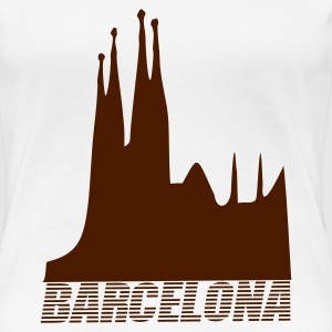 White Barcelona - Spain Women's Tees (short sleeved) - Women's Premium T-Shirt
