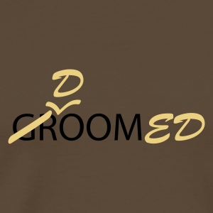 Brown Groom (bruidegom, vrijgezellen avond, wedding) Men's Tees (short-sleeved) - Mannen Premium T-shirt