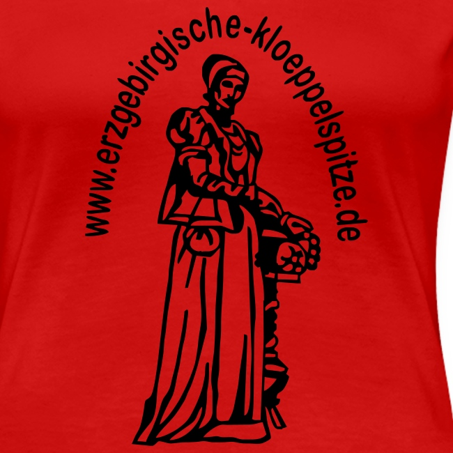 Erzgebirgische Klöppelspitze rot/female