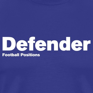Royal blue Defender - Football Positions Men's Tees (short-sleeved) - Men's Premium T-Shirt
