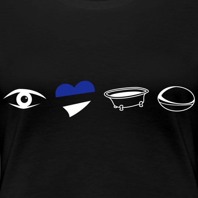 Women's BELL Eye Heart Bath T-Shirt
