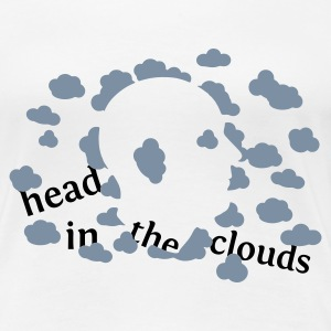 White head in the clouds Women's Tees (short sleeved) - Women's Premium T-Shirt