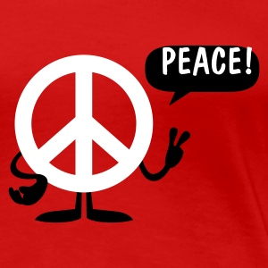 Stereo rot peace sign T-Shirts (Kurzarm) - Frauen Premium T-Shirt