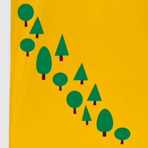 Yellow line of trees Men's Tees (short-sleeved) - Men's Premium T-Shirt