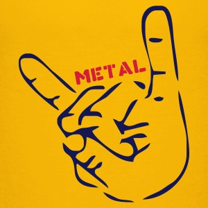 Gelb Heavy Metal Pommesgabel Kinder Shirts - Teenager Premium T-Shirt