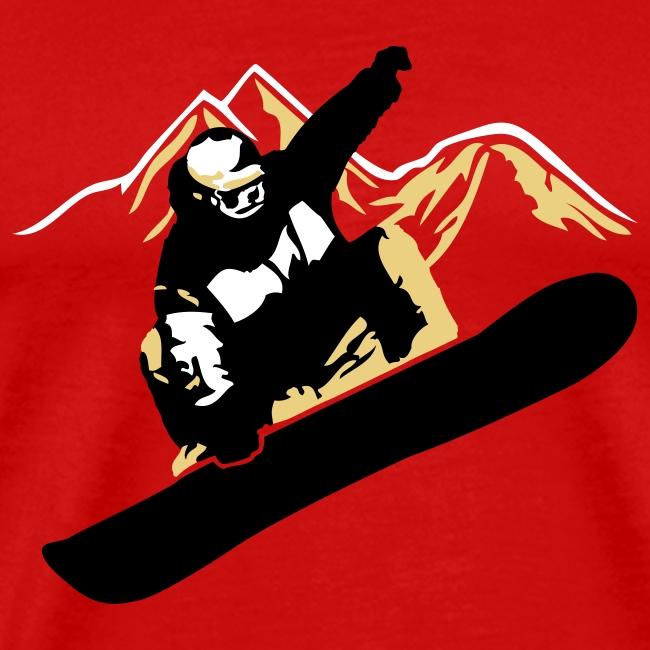 Snowboarder Big Air Mountains