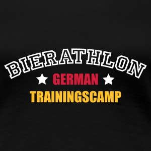 Schwarz Bierathlon Trainingscamp © T-Shirts (Kurzarm) - Frauen Premium T-Shirt
