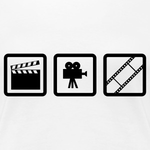 Weiß Hollywood Gear T-Shirts (Kurzarm) - Frauen Premium T-Shirt