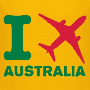 Gelb I travel Australien - reisen - fly Kinder Shirts - Teenager Premium T-Shirt