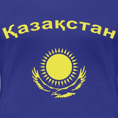 Kasachstan mit Wappen - Казахстан + Герб