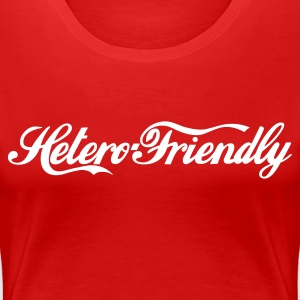 Stereo rot hetero friendly T-Shirts - Frauen Premium T-Shirt