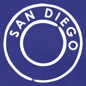Royal blue San Diego Men's Tees - Men's Premium T-Shirt