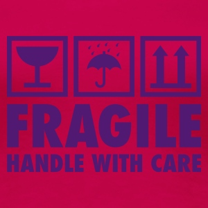Hellrosa fragile - handle with care T-Shirts - Frauen Premium T-Shirt