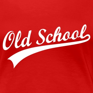 Donkerrood ::OLD SCHOOL:: T-shirts - Vrouwen Premium T-shirt