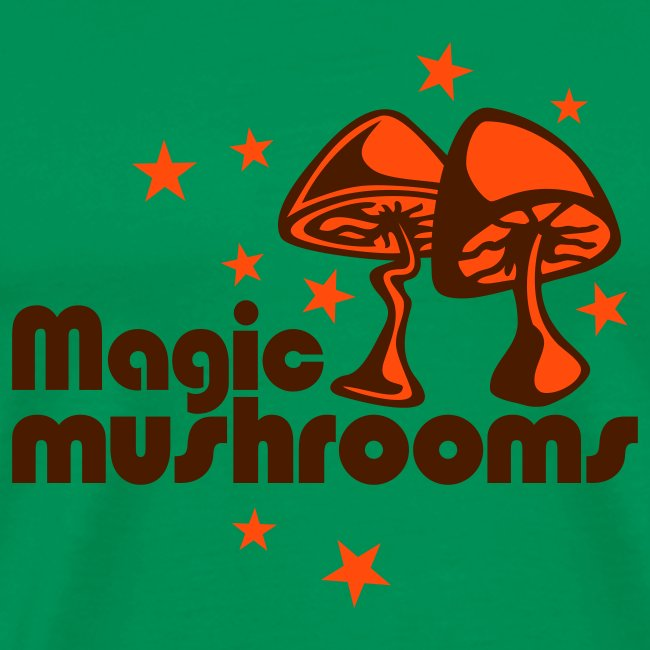 Magic mushrooms khaki