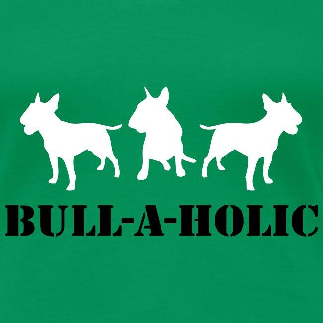 Womens Tee with 'Bull-a-holic' Print