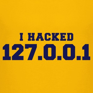 Gelb i hacked 127.0.0.1 Kinder Shirts - Teenager Premium T-Shirt