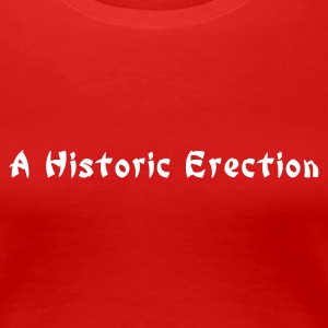 Stereo rot a historic erection T-Shirts - Vrouwen Premium T-shirt