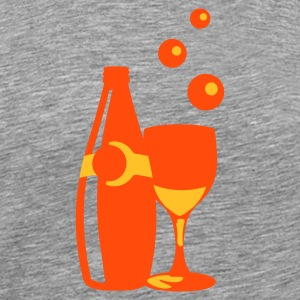 bottle 'n glas of bubbly - Men's Premium T-Shirt