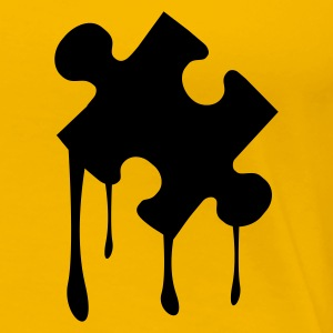 Yellow puzzle teil melting T-Shirts - Women's Premium T-Shirt