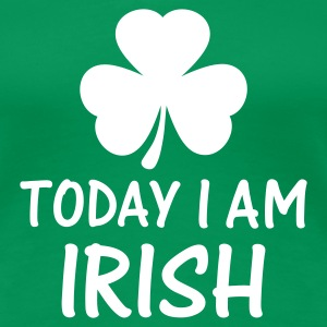 Grasgrün today i am irish T-Shirts - Frauen Premium T-Shirt