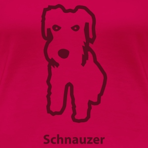 Light pink schnauzer Women's Tees - Women's Premium T-Shirt