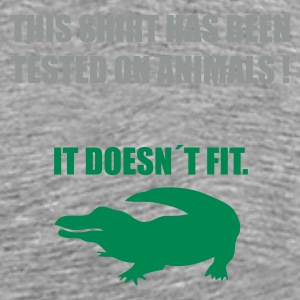 Grau meliert tested on animals 3 T-Shirts - Männer Premium T-Shirt