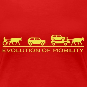 Stereo rot Evolution of Mobility T-Shirts - Premium-T-shirt dam