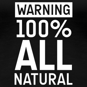 Schwarz 100natural T-Shirts - Frauen Premium T-Shirt