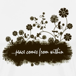 peace comes from within - Men's Premium T-Shirt