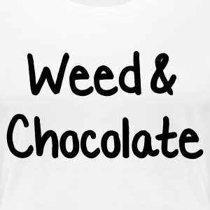 Hvid Weed and Chocolate T-shirts - Dame premium T-shirt